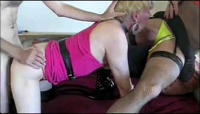 threesome 2 crossdressers and a guy 2 5