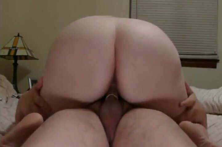Chubby girl Sharon shows her curvy ass riding cowgirl